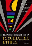 Cover for Oxford Handbook of Psychiatric Ethics