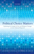 Political Choice Matters Explaining the Strength of Class and Religious Cleavages in Cross-National Perspective
