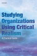 Cover for Studying Organizations Using Critical Realism
