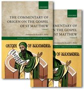 Cover for The Commentary of Origen on the Gospel of St Matthew - 9780199669073