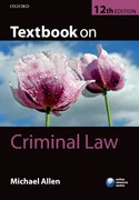 Cover for Textbook on Criminal Law