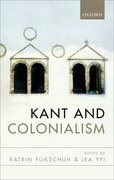 Cover for Kant and Colonialism