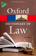 Cover image: A Dictionary of Law