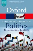Cover for The Concise Oxford Dictionary of Politics and International Relations