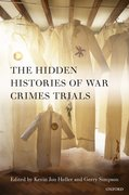 Cover for The Hidden Histories of War Crimes Trials