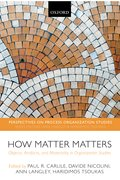 How Matter Matters Objects, Artifacts, and Materiality in Organization Studies