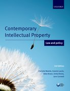 Cover for Contemporary Intellectual Property: Law and Policy