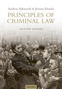 Cover for Principles of Criminal Law