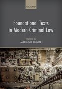 Cover for Foundational Texts in Modern Criminal Law
