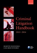 Criminal Litigation Handbook 2013-2014