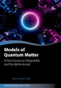 Cover for Models of Quantum Matter
