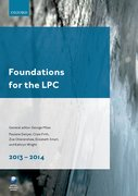 Cover for Foundations for the LPC 2013-14