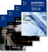Blackstone's Police Manuals 2014: Four Volume Set