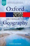 Cover for A Dictionary of Geography