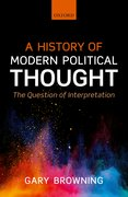 Cover for A History of Modern Political Thought - 9780199682294
