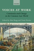 Voices at Work Continuity and Change in the Common Law World