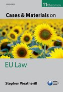 Cover for Cases and Materials on EU Law