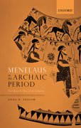 Cover for Menelaus in the Archaic Period