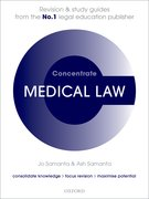 Cover for Medical Law Concentrate