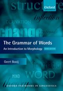 Cover for The Grammar of Words