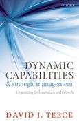 Cover for Dynamic Capabilities and Strategic Management