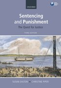 Cover for Sentencing and Punishment