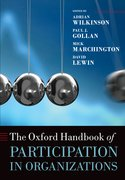 Cover for The Oxford Handbook of Participation in Organizations