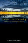 Cover for Truth in Virtue of Meaning
