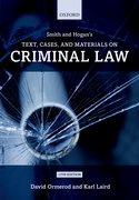 Cover for Smith and Hogan Criminal Law: Text and Materials
