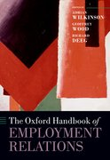 Cover for The Oxford Handbook of Employment Relations