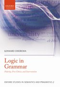 Logic in Grammar Polarity, Free Choice, and Intervention