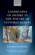 Cover for Landscapes of Desire in the Poetry of Vittorio Sereni