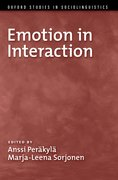 Cover for Emotion in Interaction