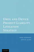 Cover for Drug and Device Product Liability Litigation Strategy