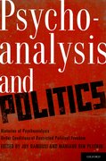 Cover for Psychoanalysis and Politics