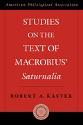 Cover for Studies on the Text of Macrobius