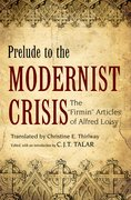Cover for Prelude to the Modernist Crisis