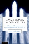 Cover for Law, Person, and Community
