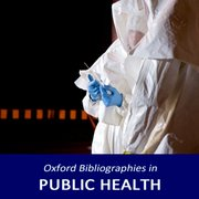 Cover for Oxford Bibliographies in Public Health