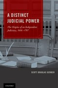 Cover for A Distinct Judicial Power