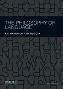 Cover for The Philosophy of Language