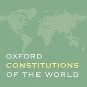 Cover for Oxford Constitutions of the World