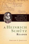 Cover for A Heinrich Schütz Reader