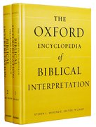 Cover for The Oxford Encyclopedia of Biblical Interpretation