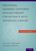 Cover for Individual Meaning-Centered Psychotherapy for Patients with Advanced Cancer