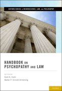 Cover for Handbook on Psychopathy and Law
