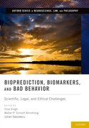 Cover for Bioprediction, Biomarkers, and Bad Behavior