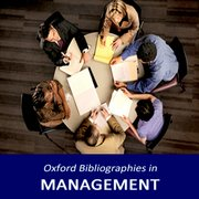 Cover for Oxford Bibliographies in Management