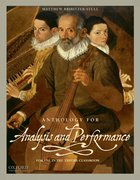 Cover for Anthology for Analysis and Performance