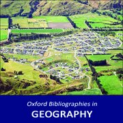 Cover for Oxford Bibliographies in Geography